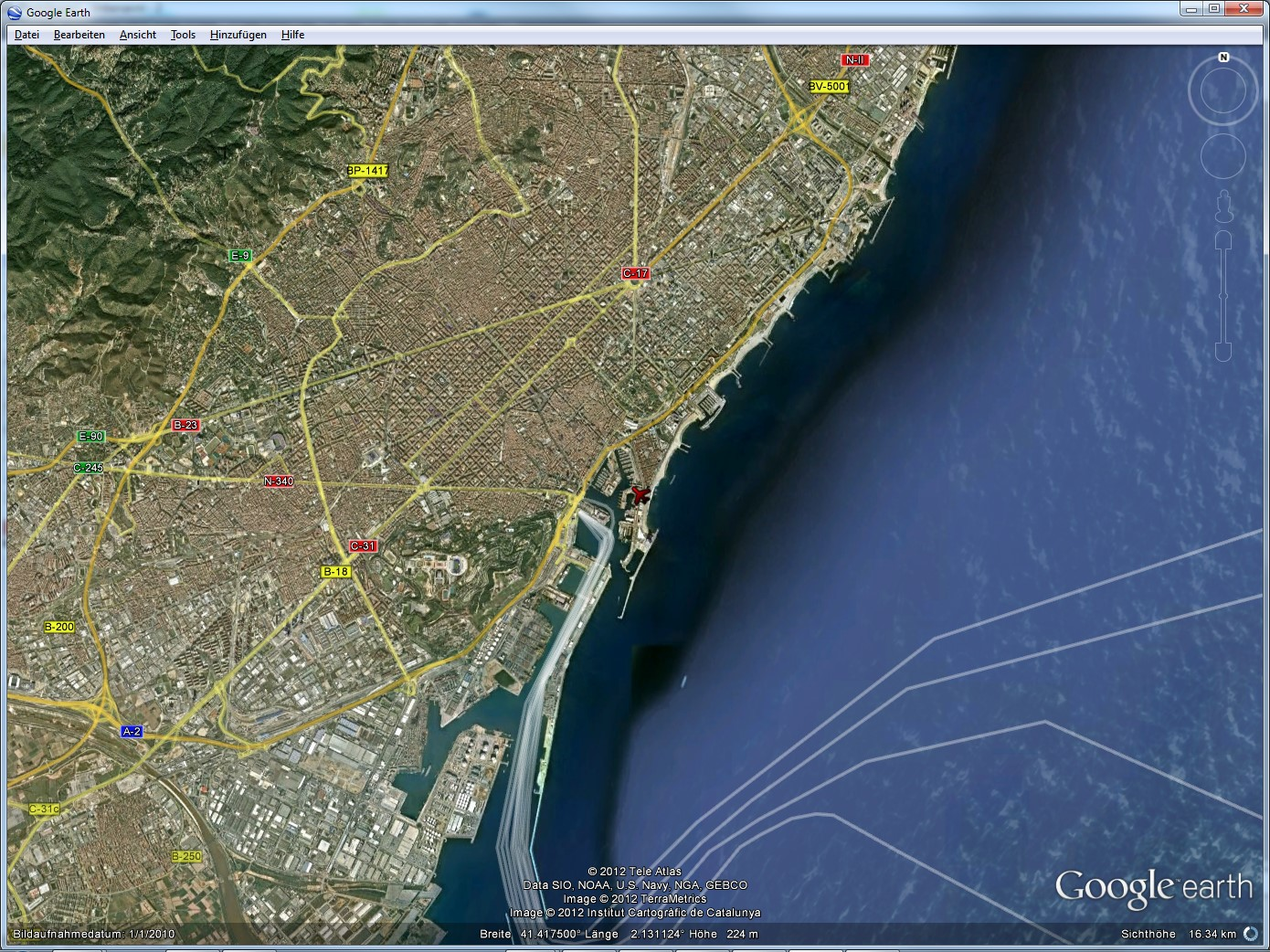 how to fly plane on google earth