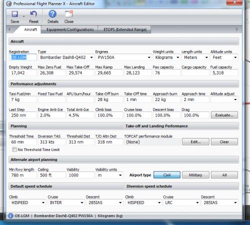 Majestic Q400 and PFPX - PFPX - Professional Flight Planner