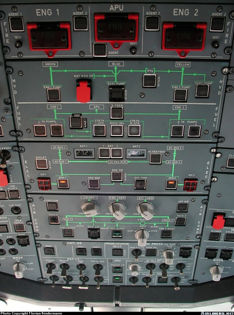 Overhead Panel A321 Vs A319 A320 Diverse Aerosoft