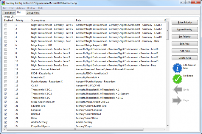 Stuff you need (1): Scenery Config Editor - General