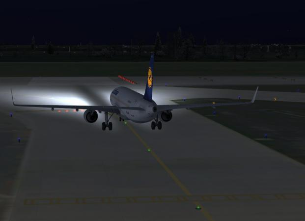 Landing lights do not illuminate the runway - Airbus General