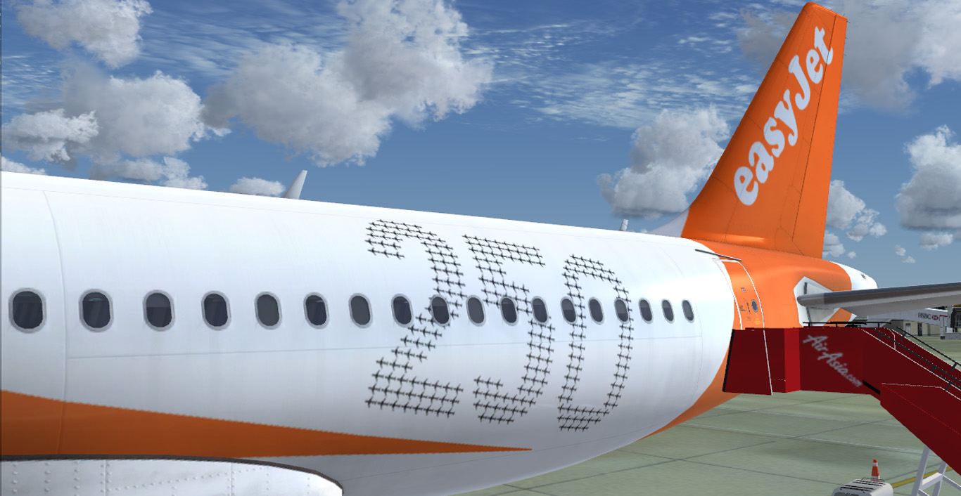 Airbus A320-214 CFM easyJet Sharklet G-EZOL '250th Airbus