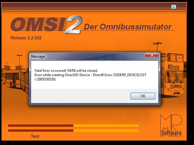 today steam update error - Omsi - The Omnibussimulator Addons