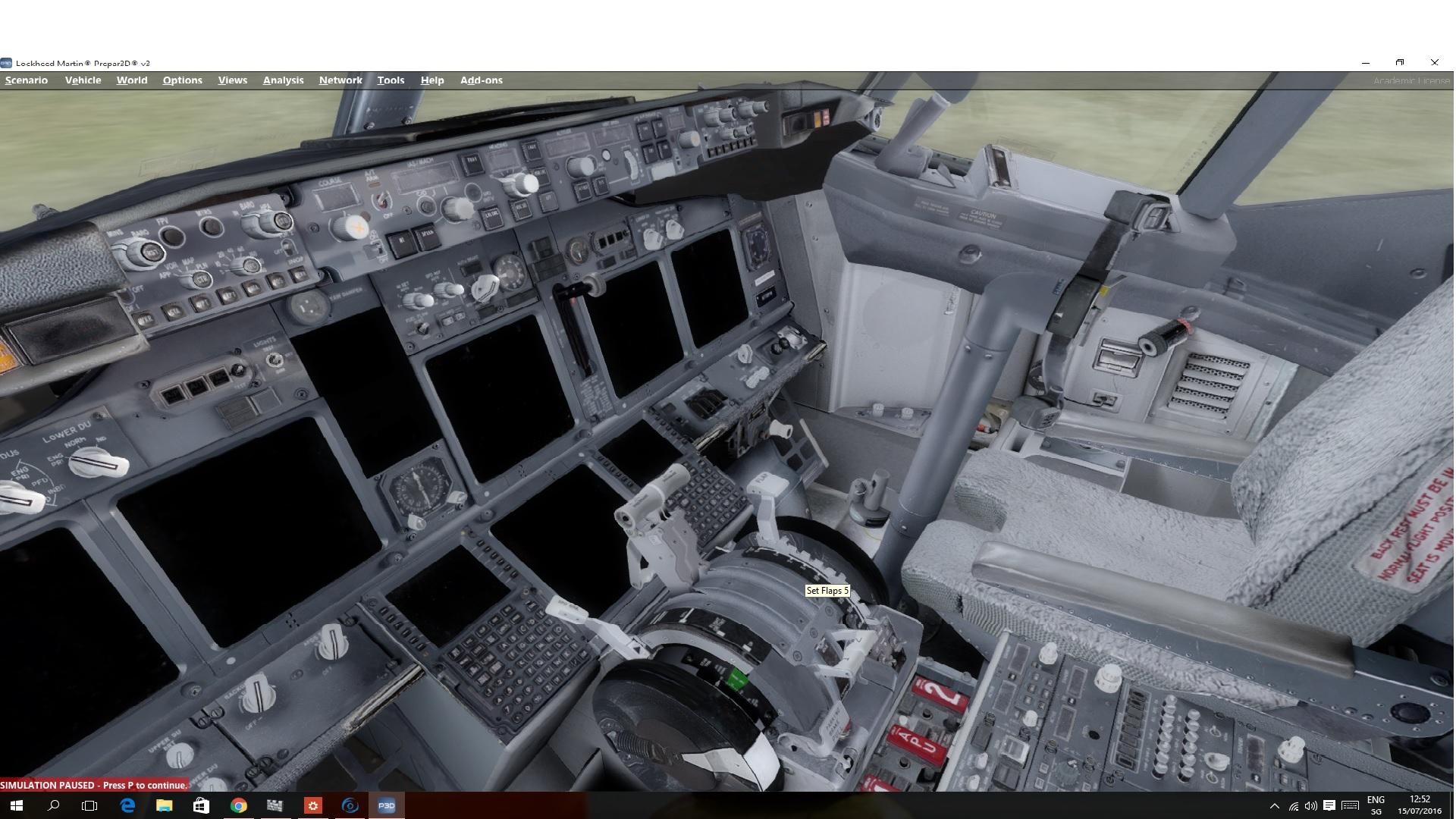 PMDG NGX P3D V3 not initializing, no gauges, no panel but