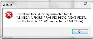 Unzip Error - Aerosoft Mega Airports - AEROSOFT COMMUNITY