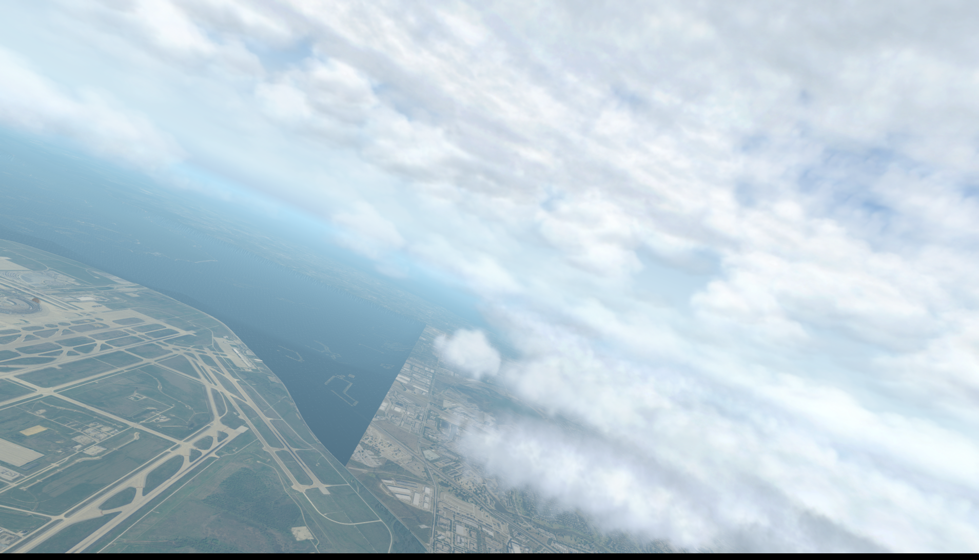 Water surrounding DFW when using Orthos - Scenery General