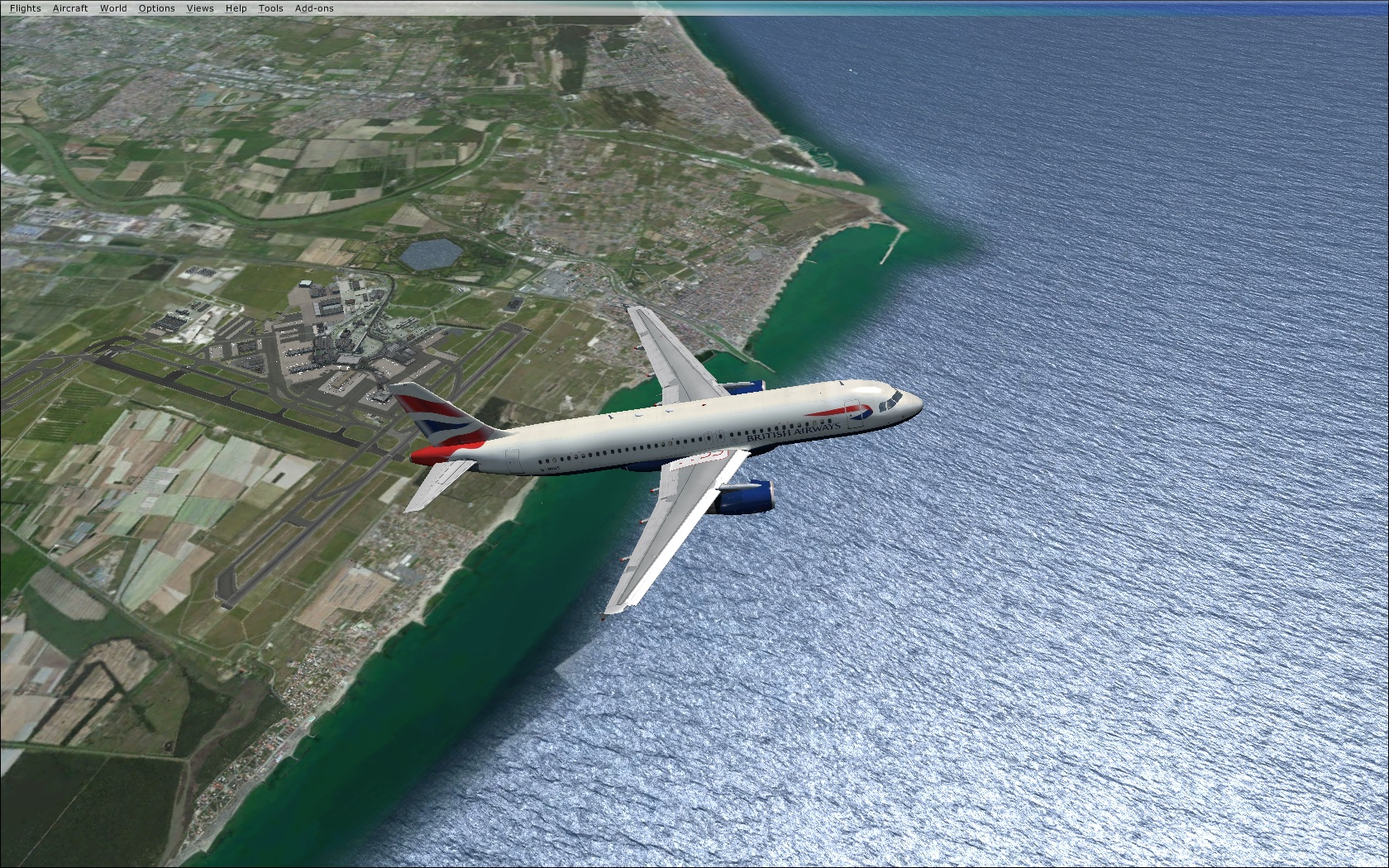 FSX Rome green textures coastal area  - Aerosoft Mega