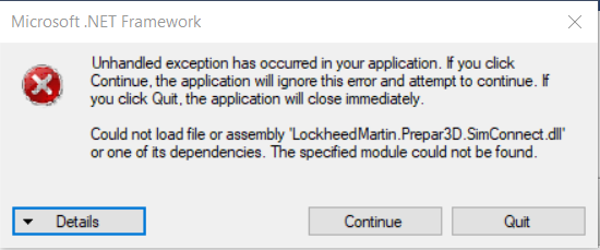 Unable to load CRJ Manager - General discussion and support