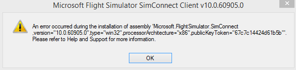 Simconnect Installation Error, help please    - Aircraft General