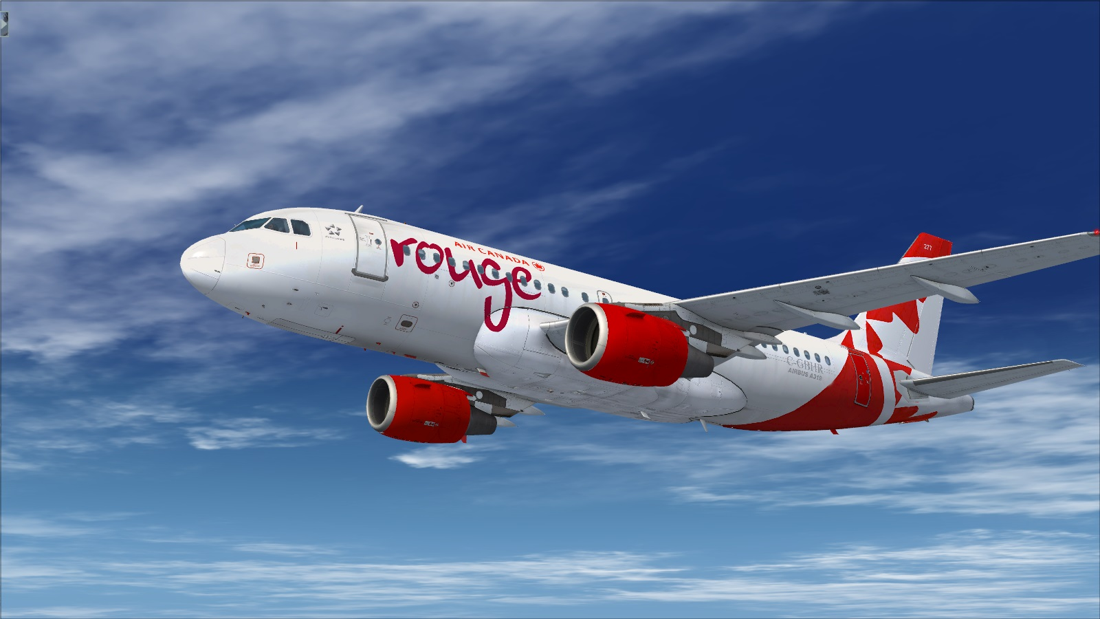 Airbus A319 CFM Air Canada Rouge C-FYJE - Airbus A318/A319 liveries