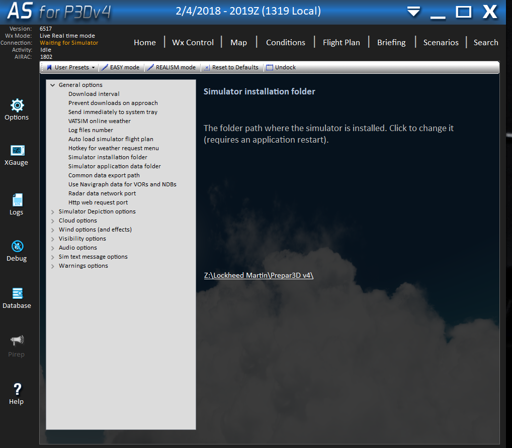 Can't load Active Sky Weather into PFPX - PFPX - Professional Flight