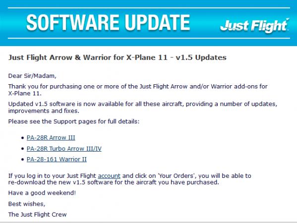 Just Flight Arrow & Warrior for X-Plane 11 - v1 5 Updates