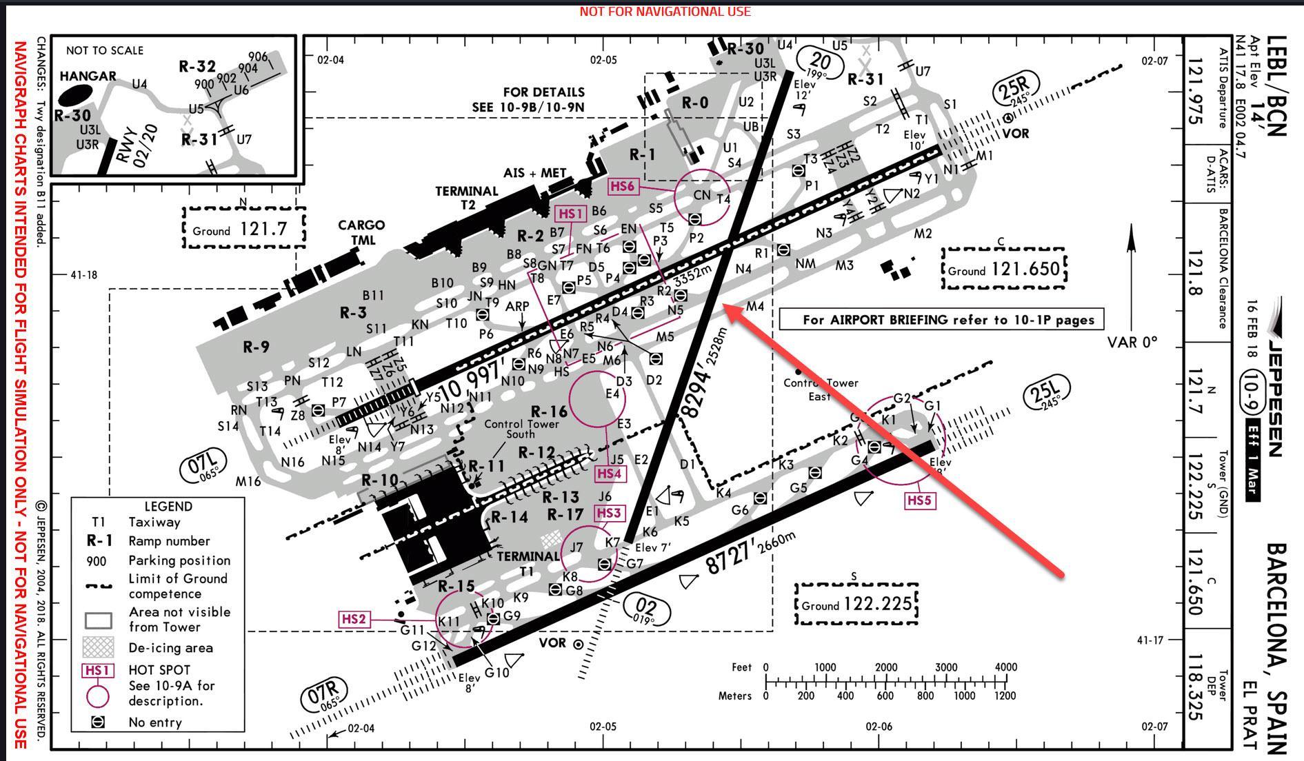 Lebl Runway And Taxiway Charts - Atc Simulators