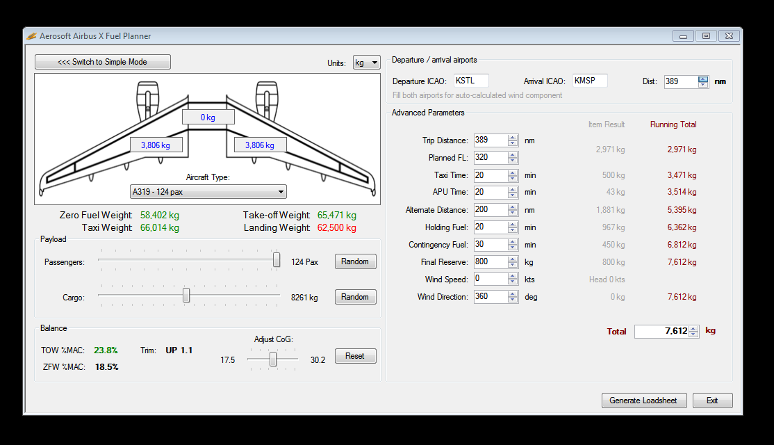 Aircraft data/weights - Page 2 - Flight model \ AP \ FMS