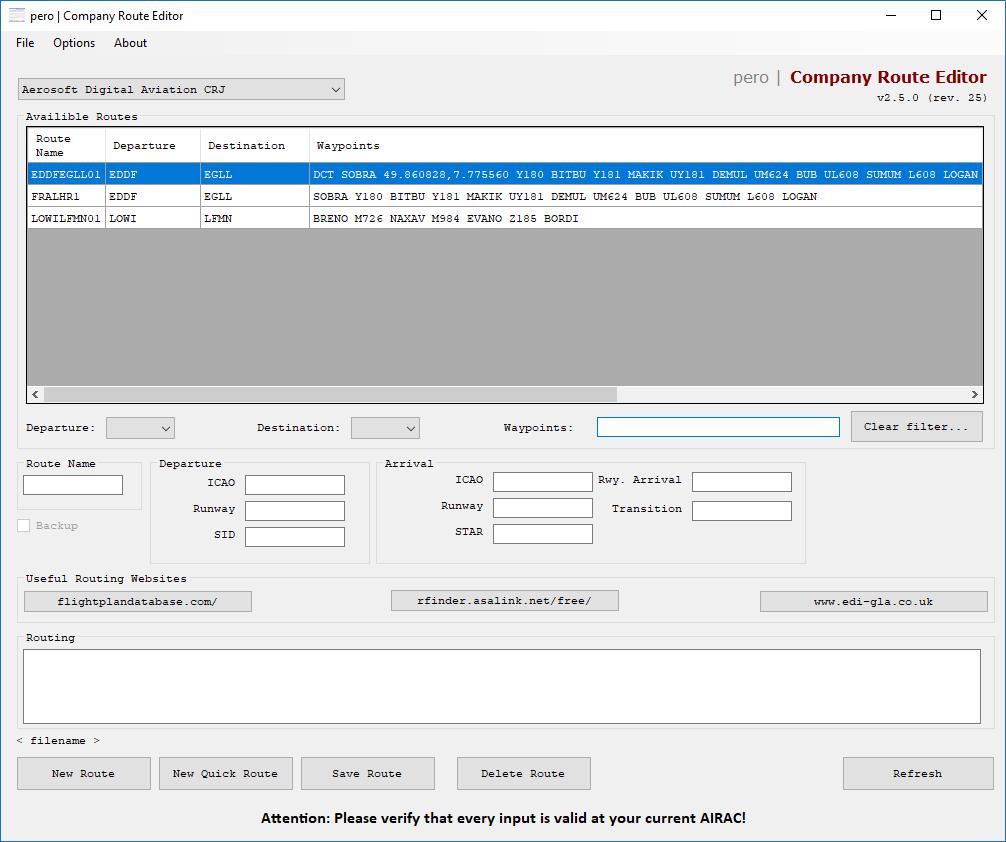 Company route editor wont open? - Navigation \ Autoflight - AEROSOFT