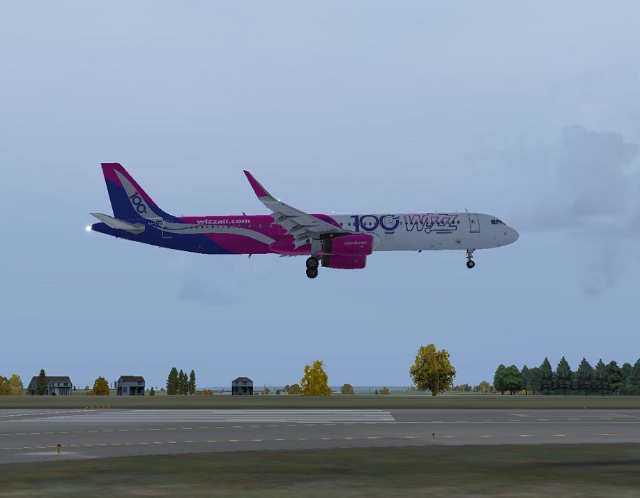 Aerosoft Airbus A321 Wizzair HA-LTD (100th Airbus for