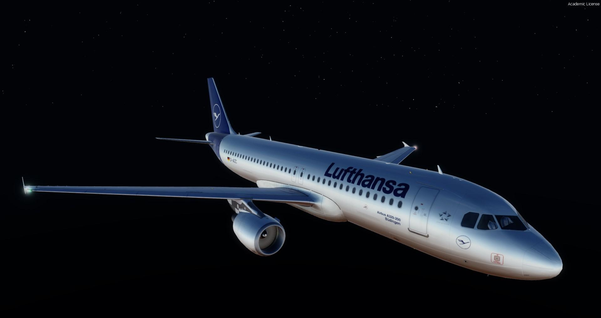 Airbus A320/A321 bright at night - Modeling \ Texturing