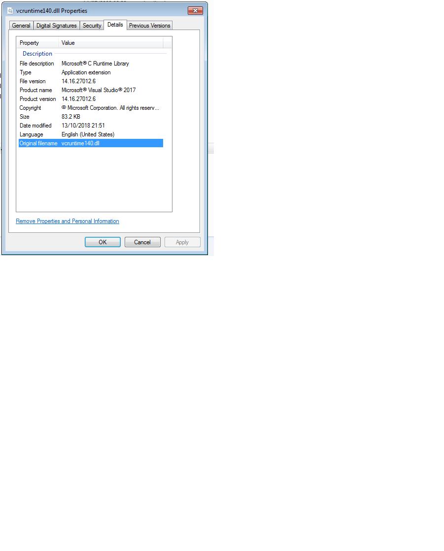 vcruntime140.dll microsoft