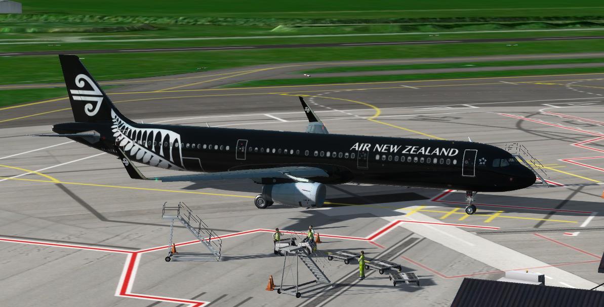 Air New Zealand Airbus A321 ZK-NNA Repaint | Aerosoft A321 IAE