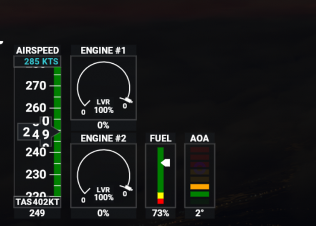 Calibration Window open throttle on joystick 1to1 with aircraft at 100%.PNG